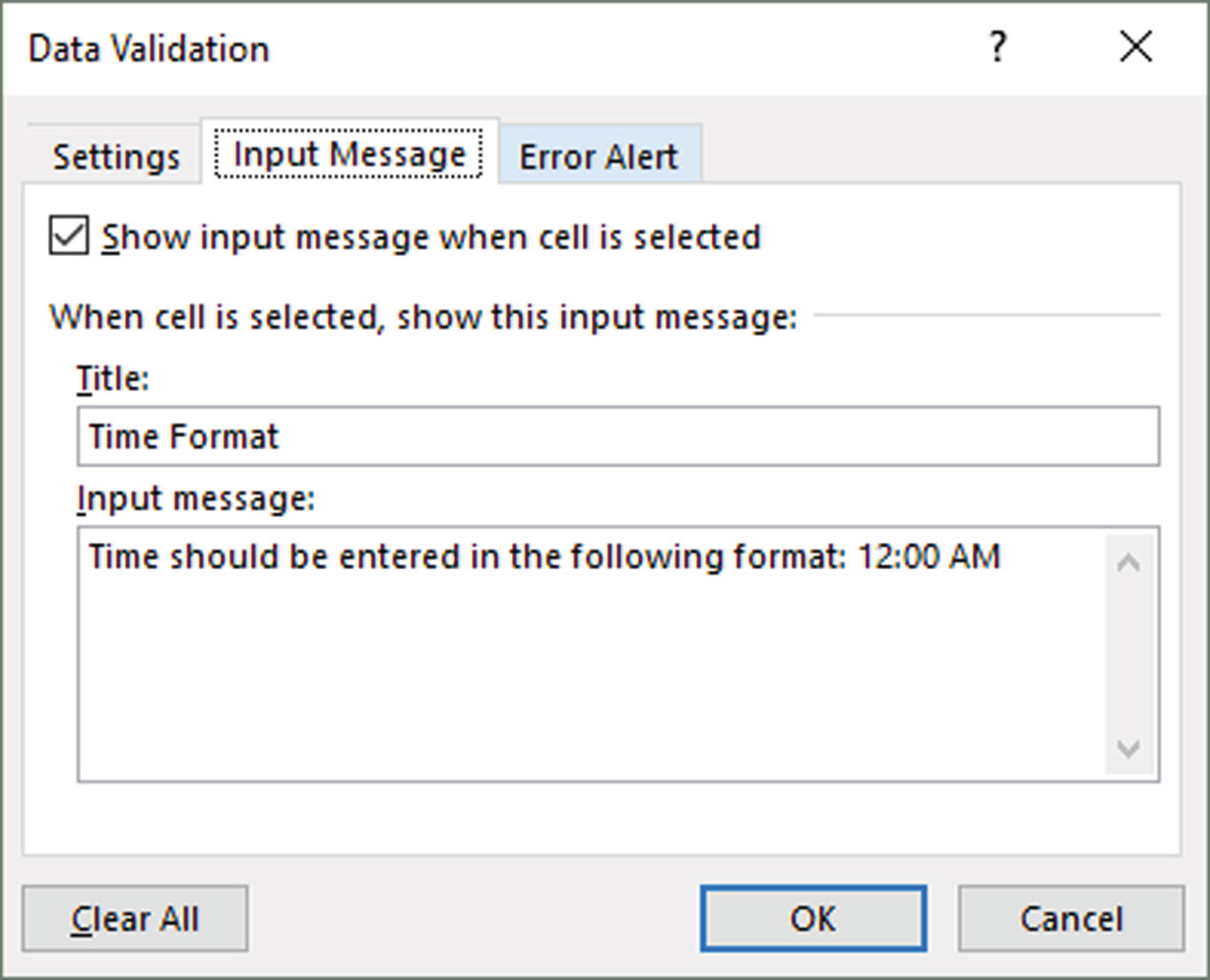excel data validation check to see if entered data is in the right
