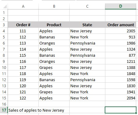 Excel Array Formulas 1_order table
