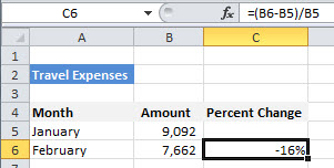 Fred Pryor Seminars_Excel Percentage Formula