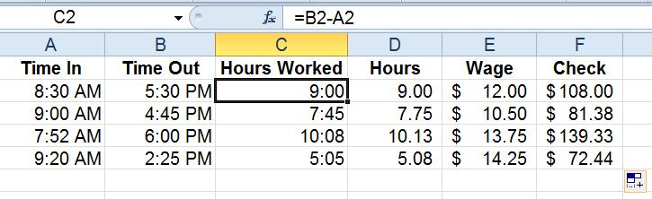 Eliminate your frustration with excel time formulas for Template to calculate hours worked