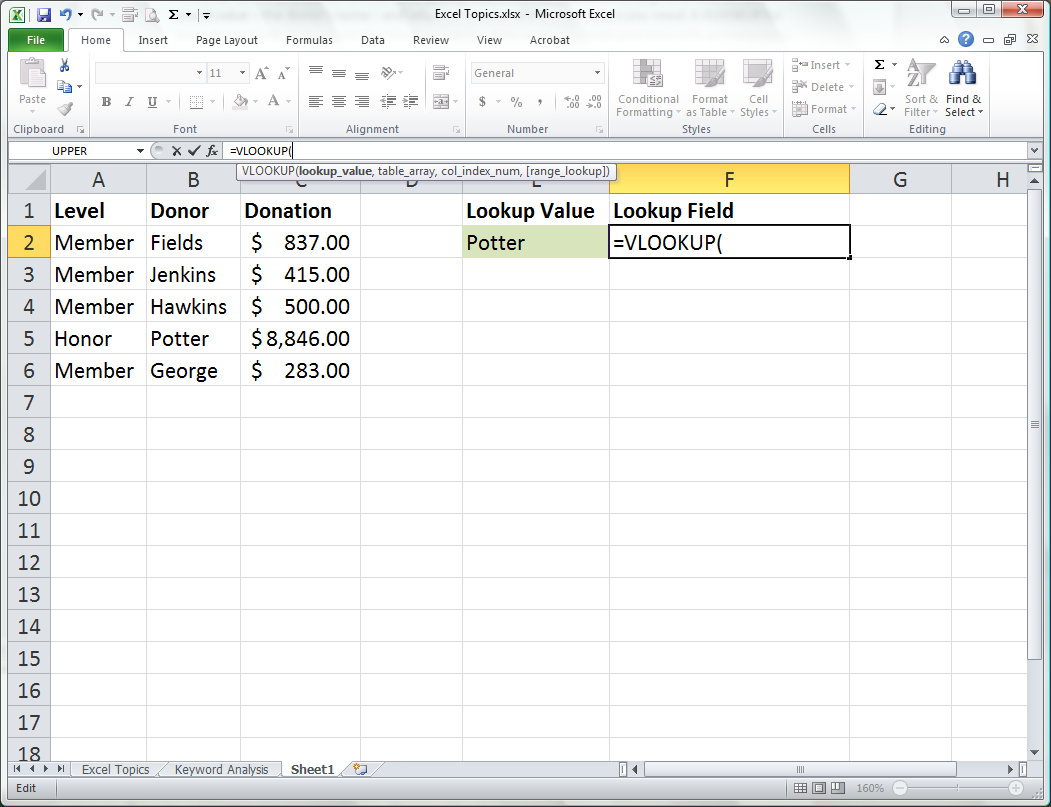 Use VLOOKUP to Find Values from an Excel<small><sup>®</sup