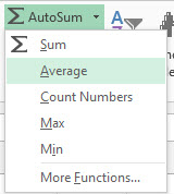 Excel Average Formula Figure 4