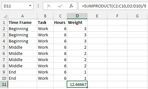 Excel Average Formula Figure5
