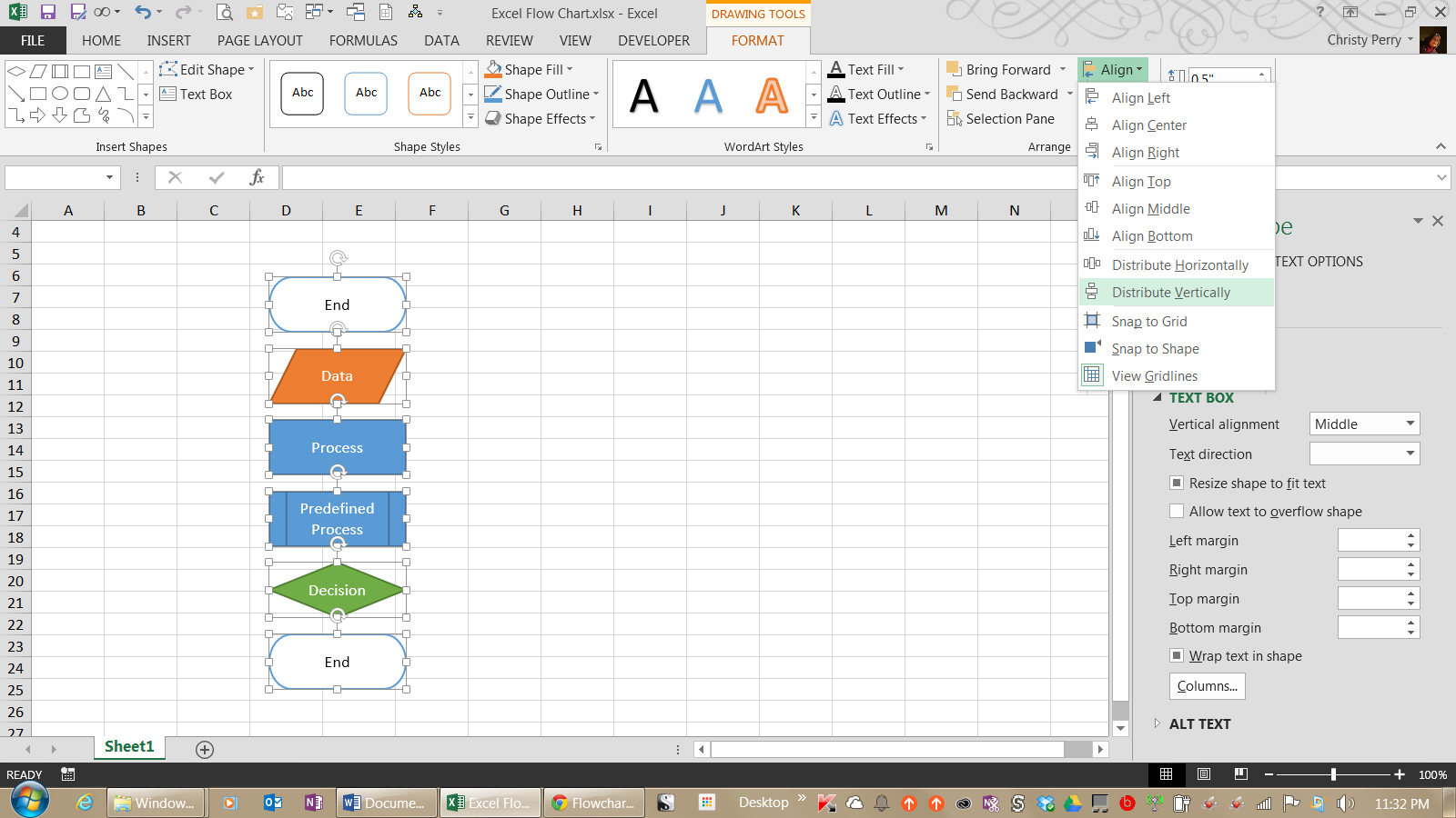 how to create flow charts in excel