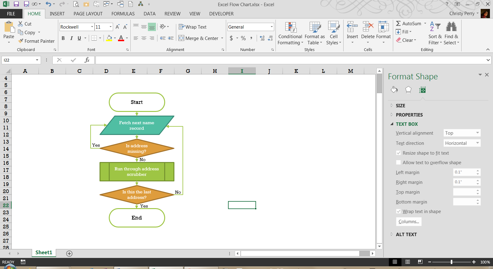 Creating A Flowchart In Excel Pryor Learning Solutions