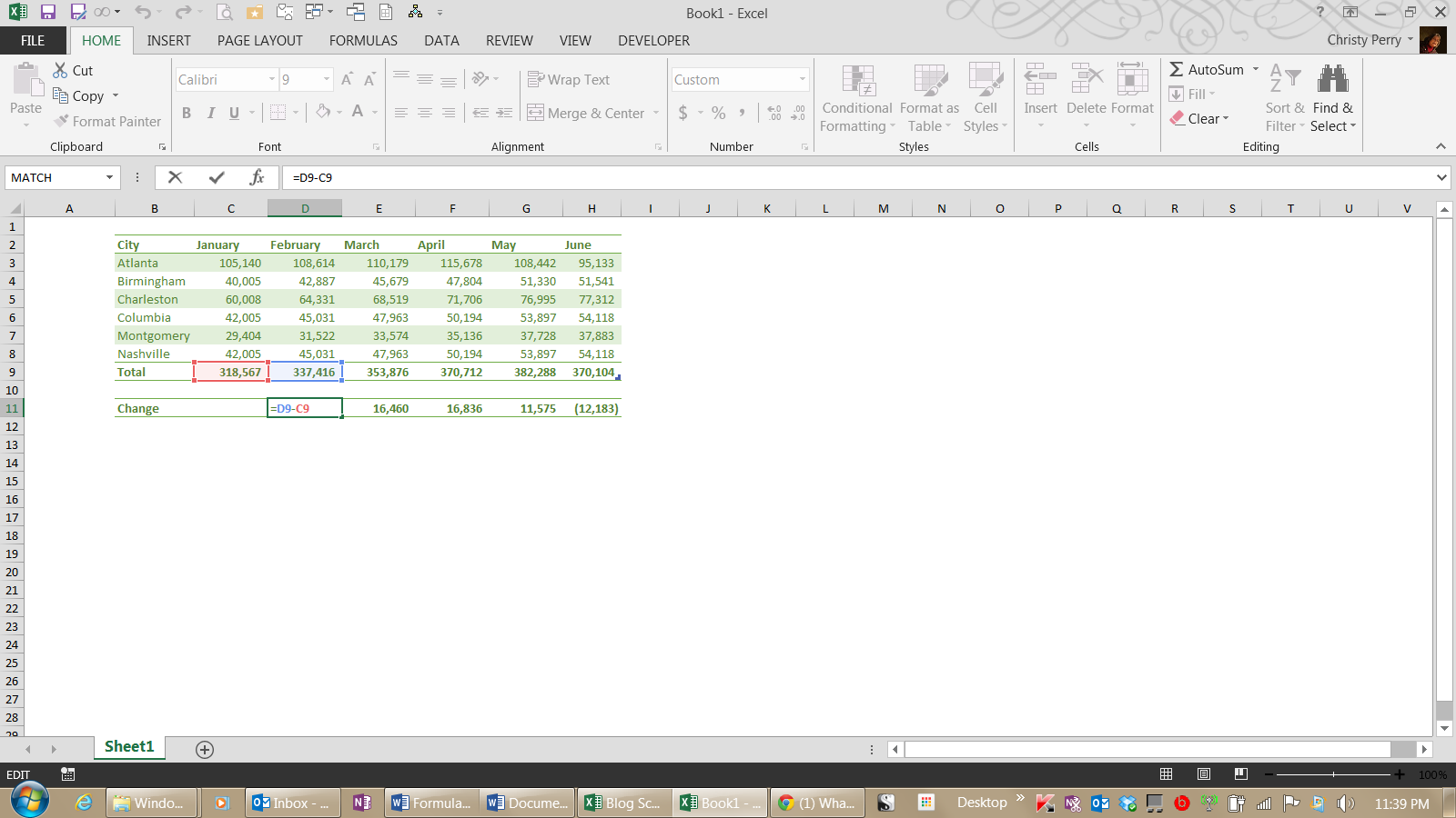 Fred Pryor Seminars_Excel Formula for Subtraction 2