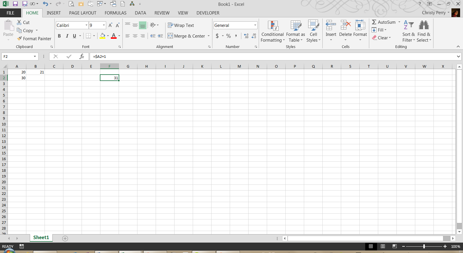 how to make an excel cell show current date
