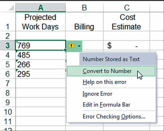 Fred Pryor Seminars_Excel formula convert text to number_figure 1