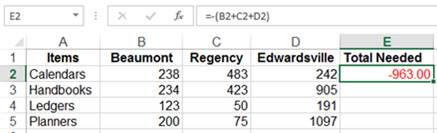 Fred Pryor Seminars_Excel Formula Syntax_Figure 1