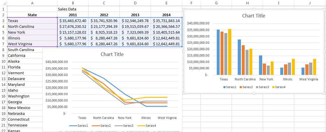 Working with Multiple Data Series in Excel | Pryor Learning