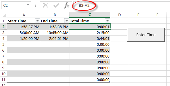 A Great Way to Create an Excel Micro Timer | Pryor Learning