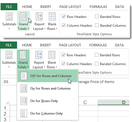Dressing Up Your PivotTable Design - Change the Layout