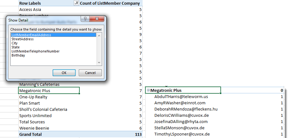 Find Duplicates - Use PivotTable 4