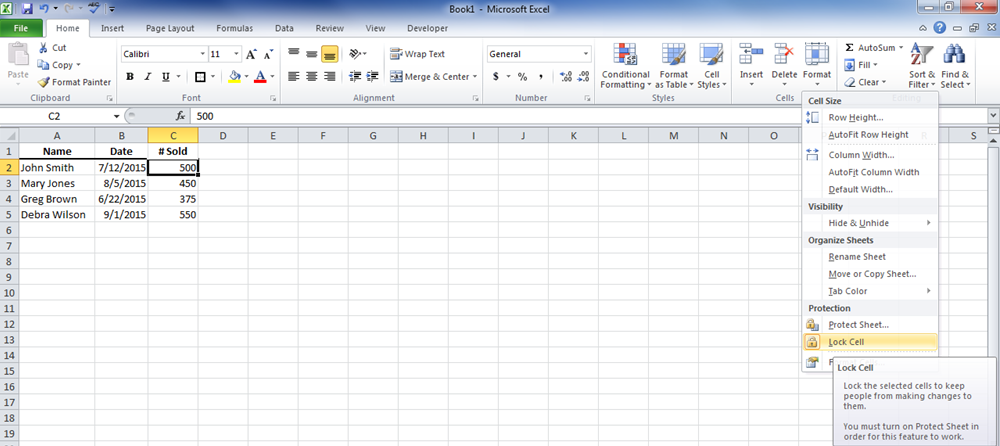 how to protect certain cells in excel 2013 youtube