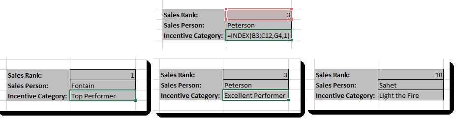 Excel Index Formula - Category