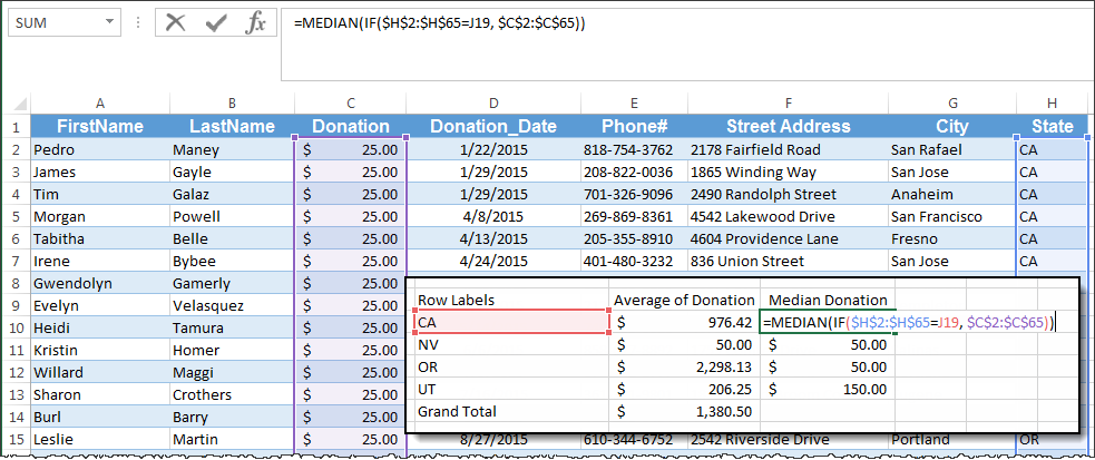 how to calculate mean median mode in excel
