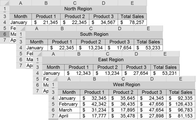 how to create a chart from multiple worksheets in excel