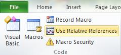 Excel Macro Relative Reference - Image 1