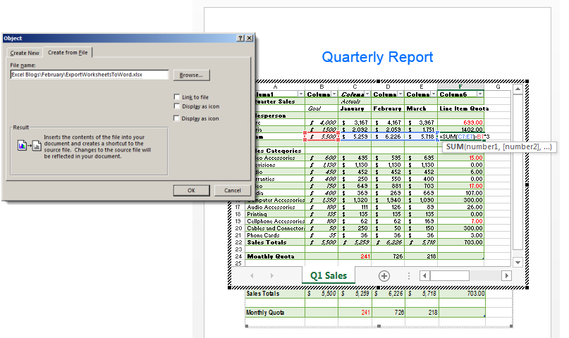 How to Export Excel Spreadsheets to Word | Pryor Learning Solutions