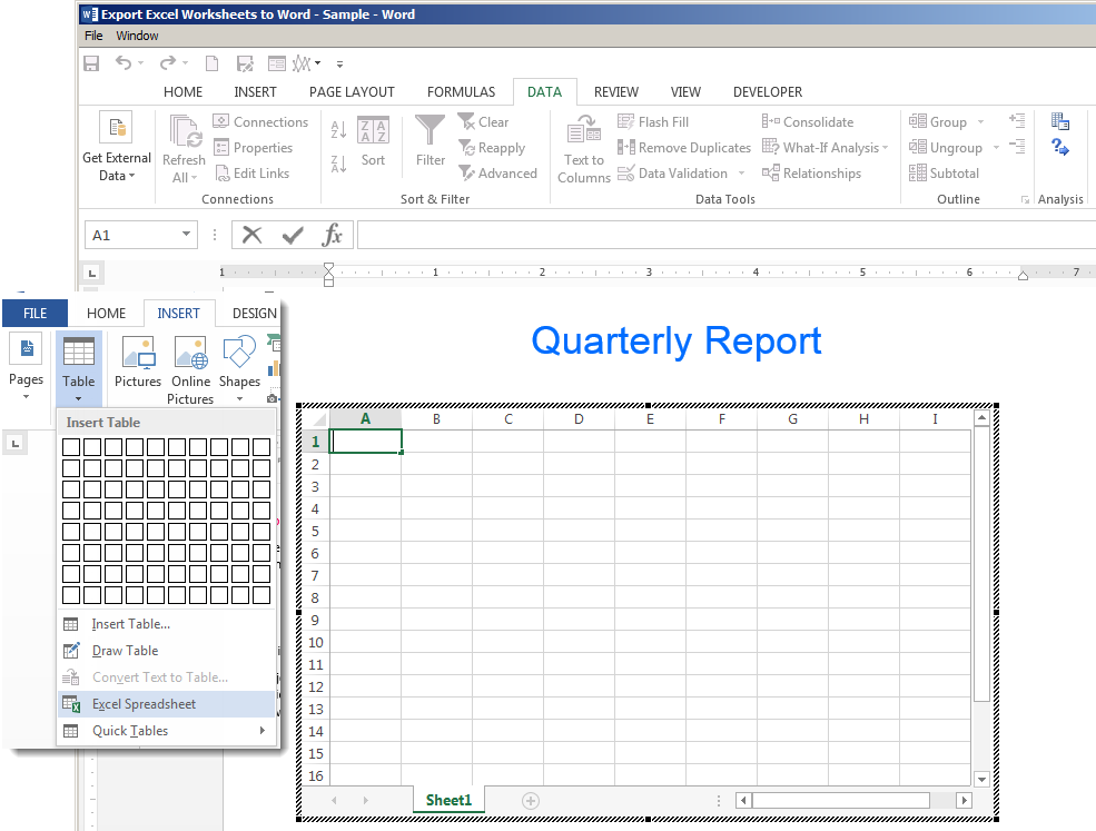 How to Export Excel Spreadsheets to Word | Pryor Learning