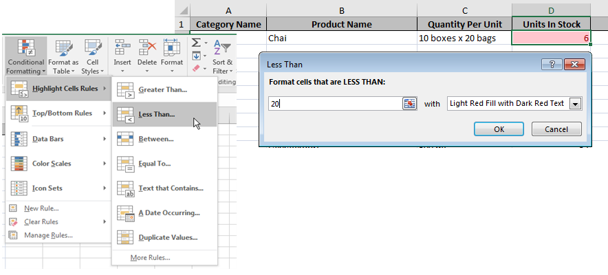 Conditional Formatting Across Multiple Cells in Excel | Pryor