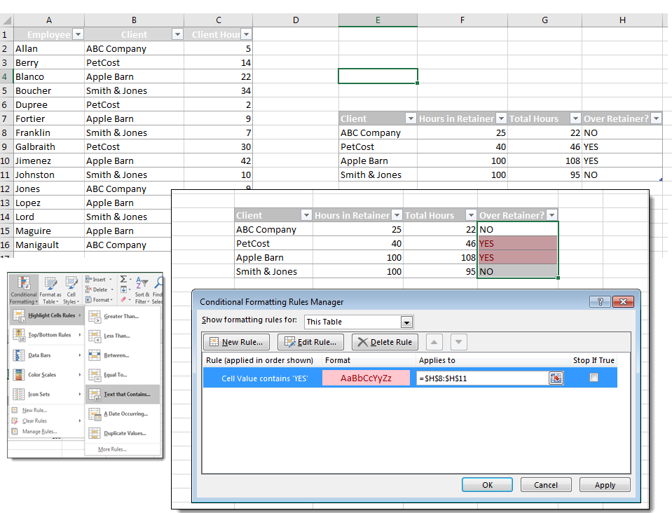 Using If/Then in Conditional Formatting in Excel | Pryor Learning