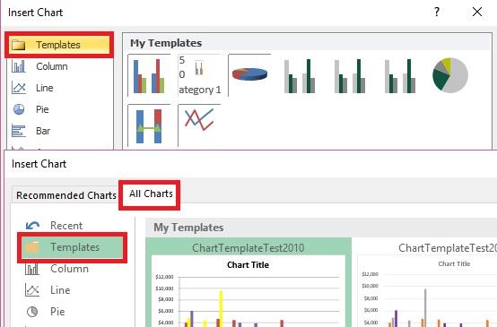 excel graphs templates