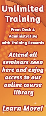 Unlimited Training in Front Desk & Administrative with Training Rewards.