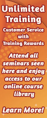 Unlimited Training in Customer Service with Training Rewards.