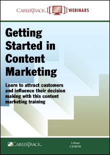 Getting Started in Content Marketing - content strategy training