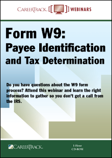 Form W9: Payee Identification and Tax Determination
