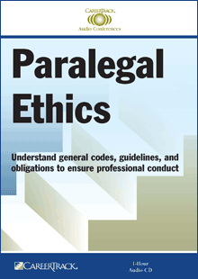 paralegal ethics Code of ethics for paralegals the code of ethics and professional responsibility of the paralegal division of the state bar of texas was adopted on march 27, 1982 the code serves as a general guide to the high standard of conduct and integrity by paralegals that is fundamental to the profession.