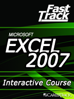 Microsoft<small><sup>&reg;</sup></small> Excel<small><sup>&reg;</sup></small> 2007 Enter and Edit Data