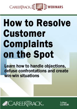 How to Resolve Customer Complaints on the Spot Customer Service Training