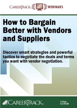 How to Bargain Better with Vendors and Suppliers - Vendor Negotiation Training