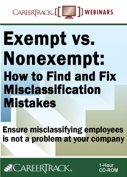 Exempt vs. Non-Exempt Status - employee misclassification