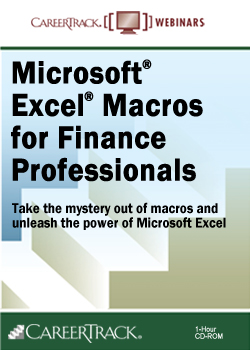 Microsoft Excel Macros for Finance Professionals training