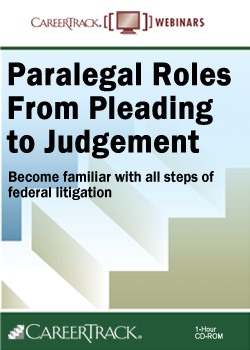 Online Paralegal Courses: Paralegal Roles from Pleading to Judgment