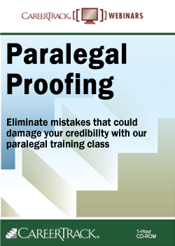 Proofreading for Paralegals - A Paralegal Training Course