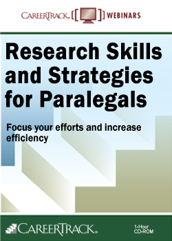 Research Skills and Strategies for Paralegals