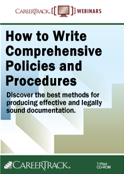 How to Write Comprehensive Policies and Procedures Training Course