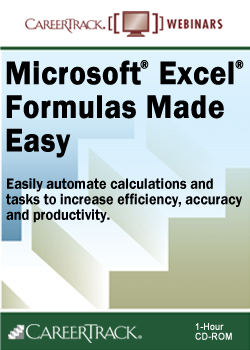 Microsoft Excel Formulas Made Easy training