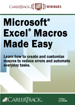 Microsoft® Excel® Macros Made Easy - Excel Macro Training