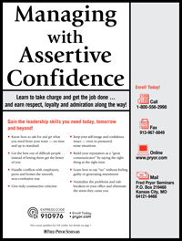Managing with Assertive Confidence