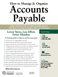 How to Manage & Organize Accounts Payable