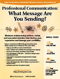 Professional Communication: What Message Are You Sending?