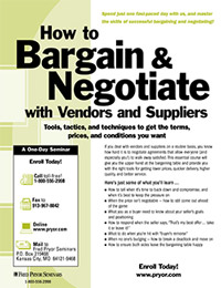 How to Bargain & Negotiate with Vendors and Suppliers