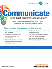 Communicate with Tact and Professionalism