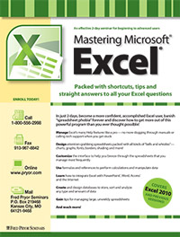 Mastering Microsoft<small><sup>®</sup></small> Excel<small><sup>®</sup></small>(2 day)
