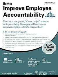How to Improve Employee Accountability